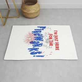 Just Here For The Fireworks Design Rug
