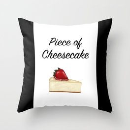 Piece of Cheesecake Throw Pillow
