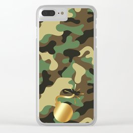 CAMO & GOLD BOMB DIGGITY Clear iPhone Case