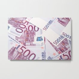 500 Euros bills Metal Print