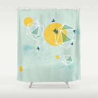 journey Shower Curtains featuring Journey by Orit Kalev