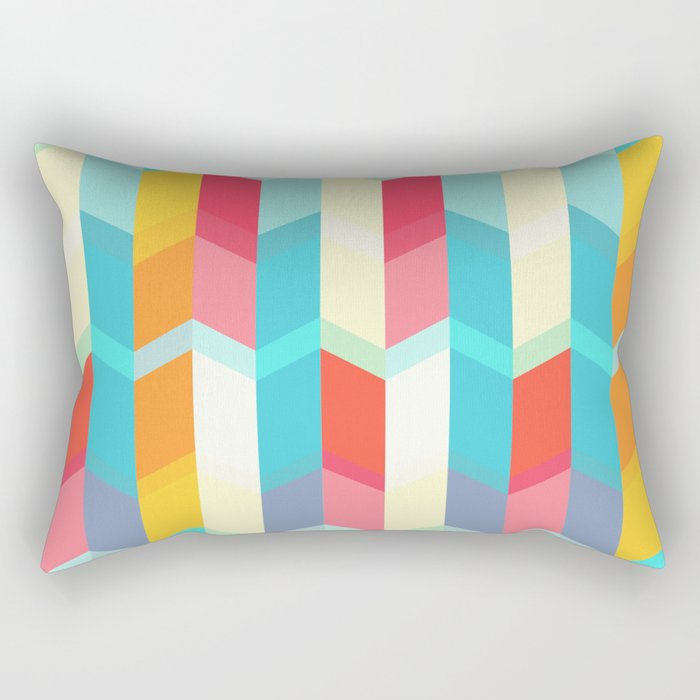 Summer Geo Rectangular Pillow