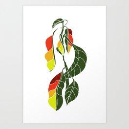 Colored Avocado Art Print