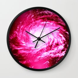 Pink Hurricane Wall Clock