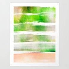 waves - green Art Print