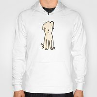 golden retriever Hoodies featuring Golden retriever watercolor by Chloe Meister