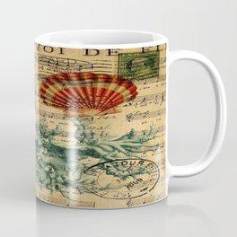 french botanical art music notes starfish seashell Coffee Mug