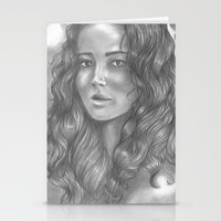 katniss Stationery Cards featuring Goodbye by ombradellaluna