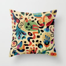 Wobbly Life Throw Pillow