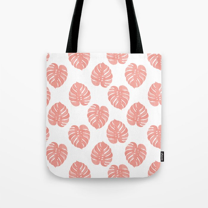Monstera house plant minimal watercolor painting trendy gifts for anyone leaves tropical beach Tote Bag
