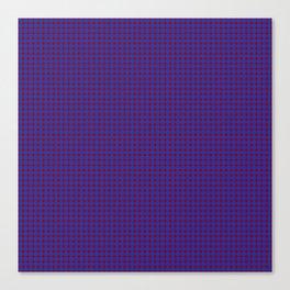 Burgundy and Navy Blue Polka Dot Pattern Canvas Print