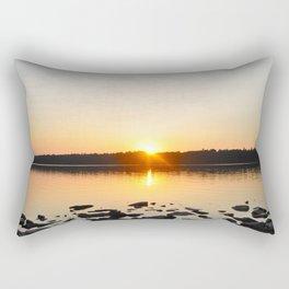 The Setting Sun. Rectangular Pillow