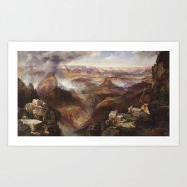 Grand Canyon of the Colorado River by Thomas Moran Art Print