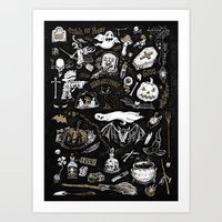 witchcraft Art Prints featuring Witchcraft by pakowacz