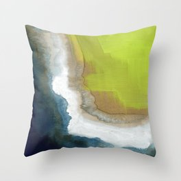 Surf Abstraction Throw Pillow