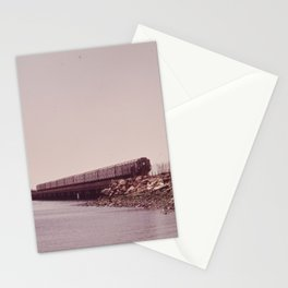 NEW YORK SUBWAY IS ABOVE GROUND WHEN IT CROSSES JAMAICA BAY AREA Stationery Cards