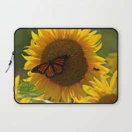 The butterfly the bee and the sunflower Laptop Sleeve