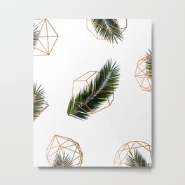 Palm + Geometry V2 #society6 #decor #buyart Metal Print