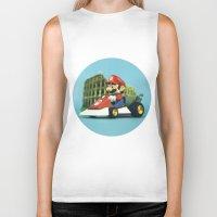 mario kart Biker Tanks featuring Super Mario: the homecoming by josemanuelerre