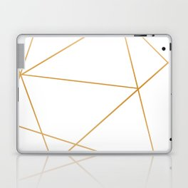 geometric gold and white Laptop & iPad Skin
