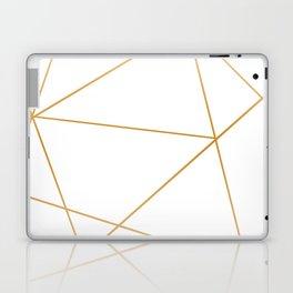 geometric gold and white Laptop & iPad Skin