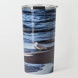 Seagulll by the Waves Travel Mug