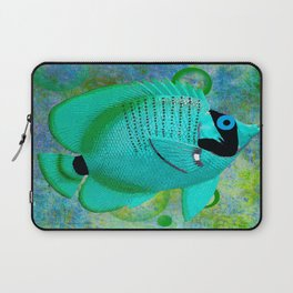 ANGEL FISH BLUE Laptop Sleeve