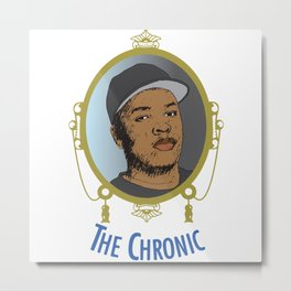 Dr. Dre The Chronic Metal Print