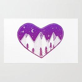 Heart In The Mountains - Darker Palette Rug