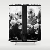 creepy Shower Curtains featuring Creepy Spys by Maioriz Home