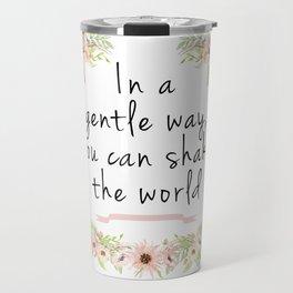 Shake the world Travel Mug