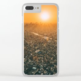 City and the sky Clear iPhone Case