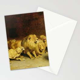 Daniel In The Lions Den 1872 By Briton Riviere Stationery Cards