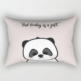 Baby Panda Nursery Print in Pink (2 of 3) Rectangular Pillow
