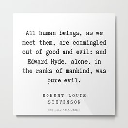 35    Robert Louis Stevenson Quotes   200113 Metal Print
