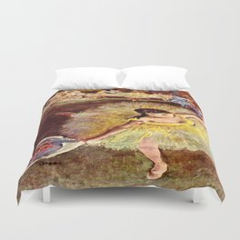 Dancer with Bouquet by Edgar Degas Duvet Cover