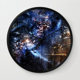 Cosmic Birds Abstract Wall Clock
