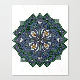 Lively Earth Mandala - v.4 Canvas Print