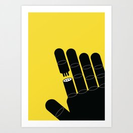 it would be easier to have a new finger in the future Art Print