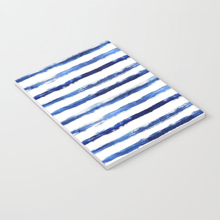 Blue grungy stripes Notebook