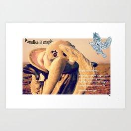 Paradise is magic Art Print