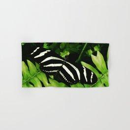 Zebra Butterfly Hand & Bath Towel