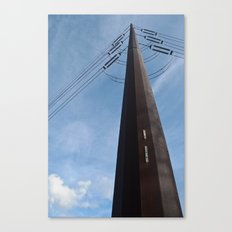 Abandoned Village Electrical Pole Canvas Print