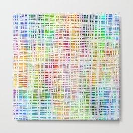 Colorful striped DP034-4 Metal Print