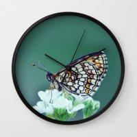 sofa Wall Clocks featuring flower sofa by LindaMarieAnson