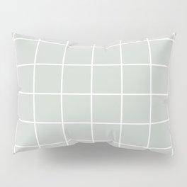 Gray Grey Grid Sea Salt Pillow Sham