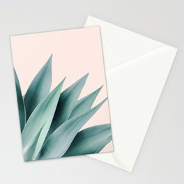 Agave flare II - peach Stationery Cards