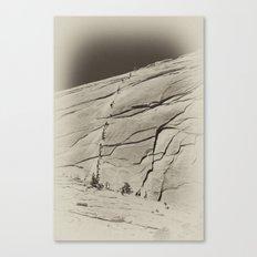 Yosemite Half Dome Hikers Canvas Print