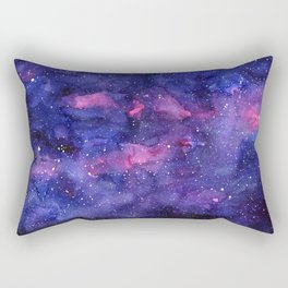 Galaxy Pattern Watercolor Rectangular Pillow