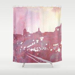 night lights Shower Curtain